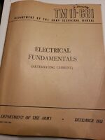 Department of the Army 1951 Technical Manual TM11-681 Electrical Instruction C-3