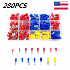 280x Assorted Crimp Spade Terminal Insulated Electrical Wire Connectors Kit Set