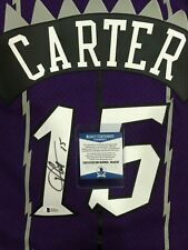 Vince Carter Signed Mitchell & Ness Raptors Jersey #15 (BAS WItnessed)