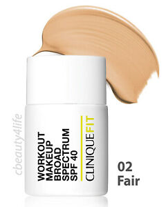 Clinique Fit 02 FAIR Workout Makeup Broad Spectrum SPF 40 - NEW SEALED!