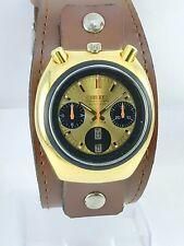 Vintage Rare Citizen Chronograph Bullhead 67-9020 Serviced Men's Wristwatch N252