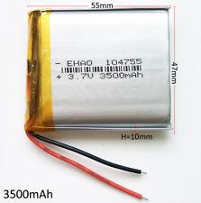 3.7V 3500mAh Lipo Polymer Li Battery For Cell phone tablet power bank DVD 104755