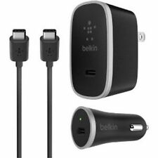 BELKIN WALL+CAR CHARGER KIT USB-C Tyep 15W 3 in 1 5W For Galaxy S9+ S8 Note 9 8