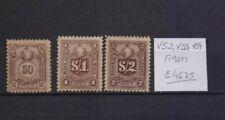 ! Peru 1921.  Postage Due Stamp. YT#X52,X53,X54. €46.75!