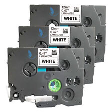 3 Compatible for Brother P-Touch TZE TZe-231 TZ 231 Label Tape - 12mm (BK+White)