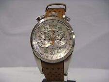 BOMBERG CHRONOGRAPH DATE BROWN LEATHER STRAP MEN'S WATCH NS39CHSS.SI0.1.LBE NEW