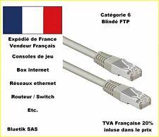 20m CABLE RESEAU ETHERNET Cat.6  FTP Blindé RJ45 CAT6 Gigabit jusqu'à 1000 Mbps