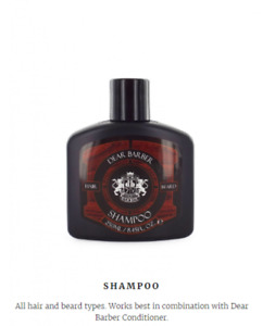 Dear Barber Hair and  Beard Shampoo 250ml