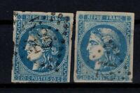 PP128096 / FRANCE BORDEAUX ISSUE / Y&T # 45A - 45B TYPE 2 USED CV 250 $