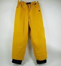 Burton Bio-Lite Snow Board Pants Womens Hook/Loop Pockets Mustard Size L