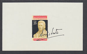 David H. Souter, US Supreme Court Justice, signed 3x5 card with stamp