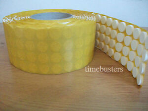 1000 White Self Adhesive Sticky CD/DVD/Blu Ray Disc Foam Holders/Dots/Studs/Pads