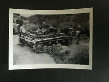 WW2 GERMAN. PANZER III, BROKEN DOWN. DURING INVASION FRANCE -:- NICE ORIGINAL.