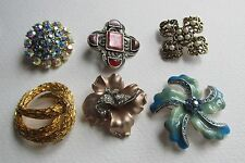 Blue Leather Costume Brooches & Pins