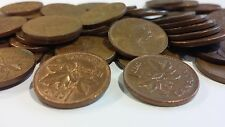 FULL ROLL 1969 CANADA ONE CENT PENNIES CIRCULATED