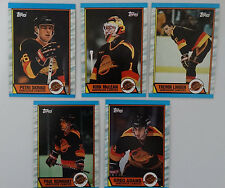 1989-90 Topps Vancouver Canucks Team Set of 5 Hockey Cards