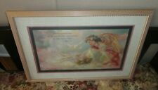 Home Interiors '' Angel Feeding Doves '' Picture Gorgeous 16'' x 22.5''