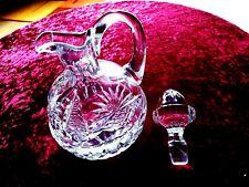 Kristall Karaffe mit Stöpsel+Licör+ rund++Höhe 21 cm +schwere Qualität 1kg+TOP !
