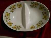 Noritake Marguerite Divided Oval Vegetable Serving Bowl