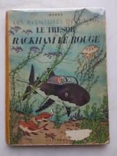 E.O Couleur Album Tintin Le trésor de Rackham le Rouge B1 - 1946 - Voir Photos !