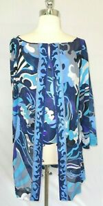 Emilio Pucci 2 piece  Matching Silk Top Cotton Over-shirt Signed 38/S Italy