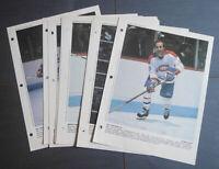 1983 NHL Montreal Canadiens Lot of 11 Dernière Heure picture