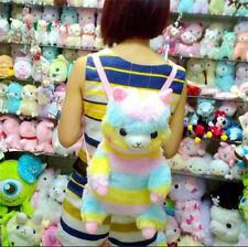 "New Alpacasso Arpakasso Amuse 17"" Plush Backpack Rainbow Stripe Llama Alpaca Bag"