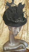 Antique Edwardian Womens Hat 1800 Era Antique Velvet Nice