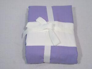 Pottery Barn Kids Lavender Rugby Stripe Full/Queen Duvet Cover