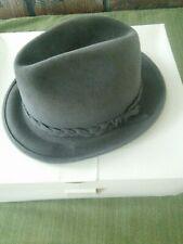 Vintage Biltmore Men's Gray Leather Fedora