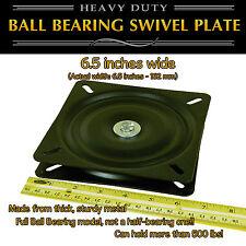 1pc - 6.5 inch (162mm) Full Ball Bearing Flat Swivel Plate Turntable