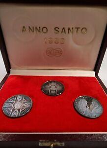 1983 Vatican Anno Santo 3 Coin Proof Silver set. Pope John Paul w/ Box