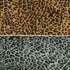 Double Georgette Polyester Fabric Leopard Print Animal Skin 145cm Wide