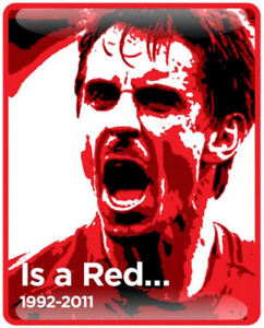 Gary Neville Is A Red - Manchester United badge
