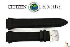 Citizen Eco-Drive BM6575-06E Original 24mm Black Leather Watch Band BM6715-09E