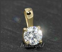 Brillant Anhänger 585 Gold mit 0,38ct in VVS, Damen Diamantanhänger, 14 Karat