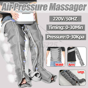 220V Air Circle Compression Pressure Leg Arm Wraps Massager Waist Muscle Relaxed