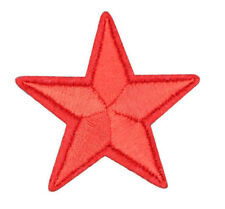 "RED STAR PATCH, EMBROIDERED RED STAR APPLIQUE 1.675"" x 1.675"" (SRS-524)"