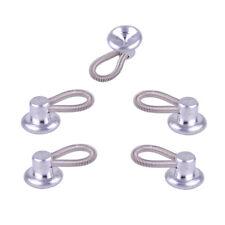 5pcs Metal Shirt Collar Extenders Expanders Top Neck Tie Buttons Flexible Spring