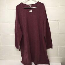 NWT J.Jill Plum Long Sleeve Knit Sweater Dress Sz 4x Wool/ Cashmere $149