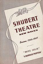 "Elisabeth Bergner ""MISS JULIE"" Raymond Burr 1947 FLOP New Haven Tryout Playbill"
