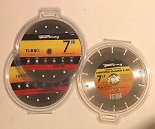 "Forney 7"" Turbo Diamond Blade 71562 (2) Segmented Diamond 71565 (1) NEW Lot Of 3"