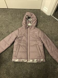 Girls Purple The North Face Reversible Jacket / Coat Size SP Age 6-7-8 Years