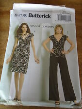 "PATRON ""BUTTERICK CREATION MAGGY LONDON JUPE TOP PANTALO T 44 A 50  N°4789 (FF)"