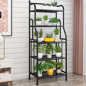 4/5-Tier Wrought Iron Flower Plant Pot Stand Shelf Kitchen Storage Rack  ❤