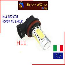 H11 LED COB COPPIA LAMPADE FENDINEBBIA CANBUS PER FIAT BRAVO 6000K NO ERROR