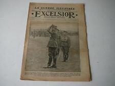 journal Excelsior 29 10 1916 Le salut du général Gouraud guerre de 14-18
