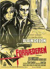 Alain Delon L'Insoumis 1964 Danish movie poster