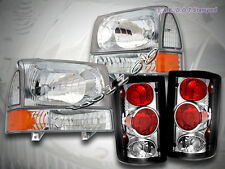 2000-2004 Ford Excursion Clear Headlights & Corner Set & Clear Tail Lights
