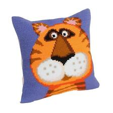 "Collection D'Art TERENCE THE TIGER Chunky X Stitch Cushion Front Kit 16"" X 16"""